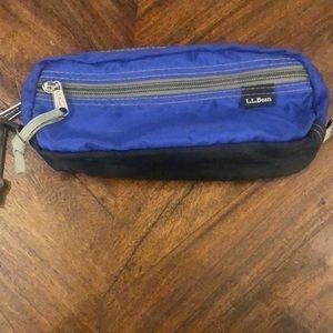 LL bean pencil bag blue